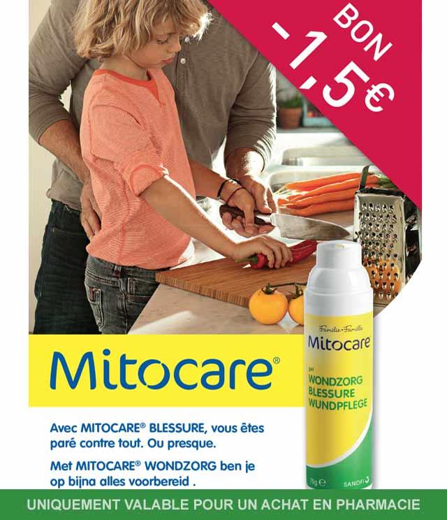 Cashback Mitocare - Blessure 1,50€ Remboursé sur myShopi