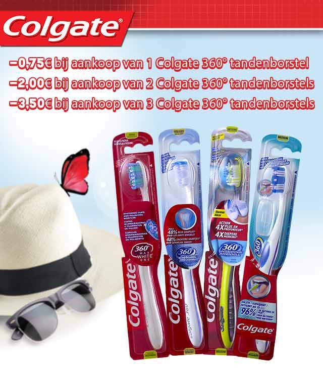 Colgate 360° Tandenborstel Tot 3,50€ Korting cashback op myShopi
