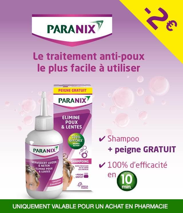 Cashback Paranix - Traitement anti-poux 2€ Remboursés sur myShopi