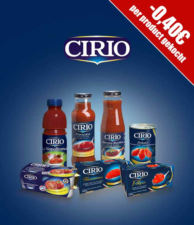 Cirio -0,40€ per product cashback op myShopi