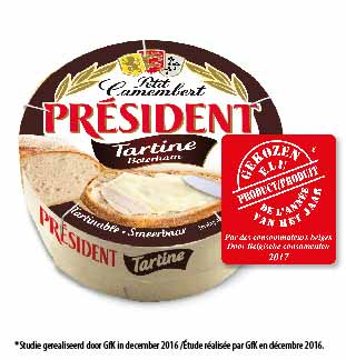 Président Petit Camembert Tartine 1+1 gratis
