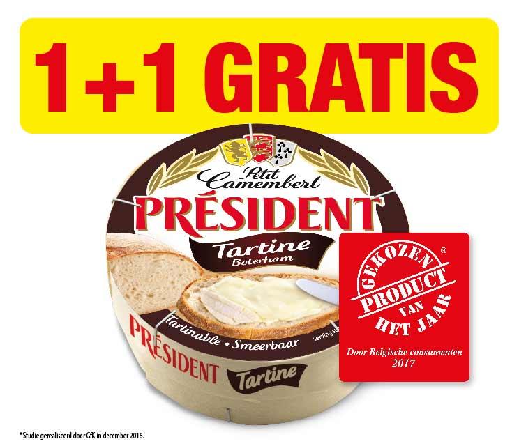 Président Petit Camembert Tartine 1+1 gratis  cashback op myShopi