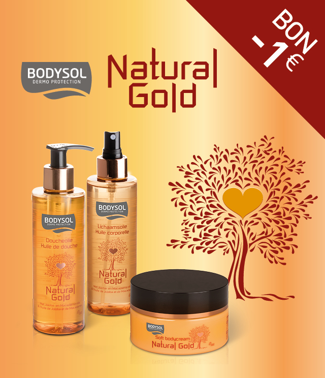 Cashback Bodysol Natural Gold 1€ remboursé sur myShopi