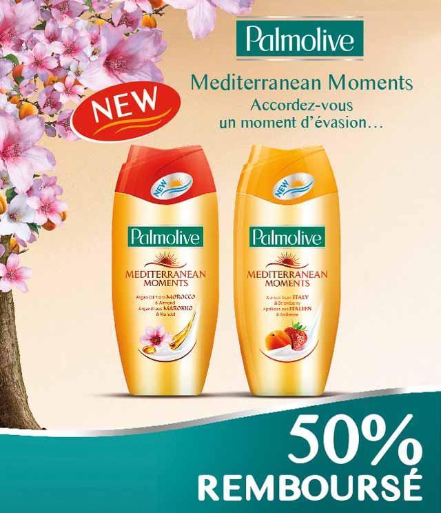 Cashback Palmolive Mediterranean Moments 50% Remboursé sur myShopi