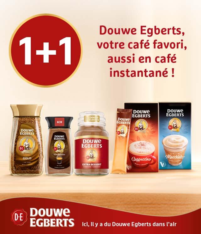 Cashback Douwe Egberts café instantané 1+1 gratuit  sur myShopi