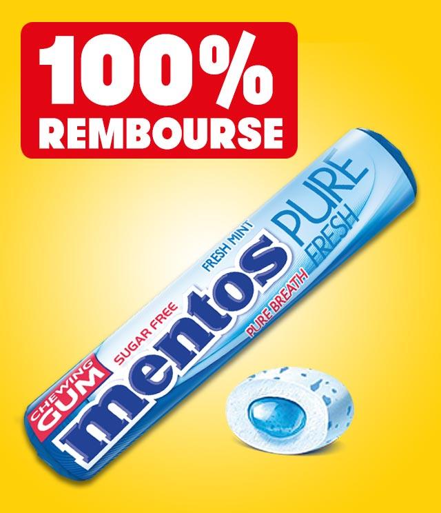 Cashback Mentos Gum 100% remboursé sur myShopi