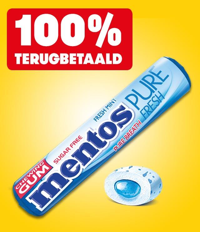 Mentos Gum 100% terugbetaald cashback op myShopi