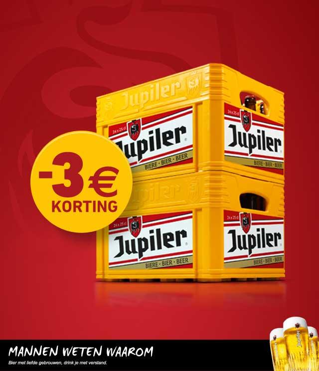 Jupiler 3€ Korting cashback op myShopi