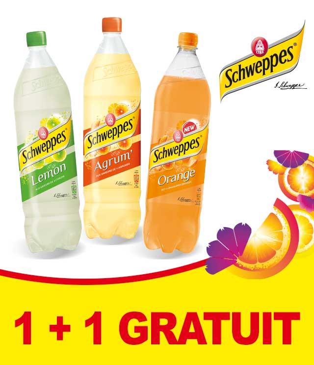 Cashback Schweppes Fruit 1 + 1 Gratuit sur myShopi