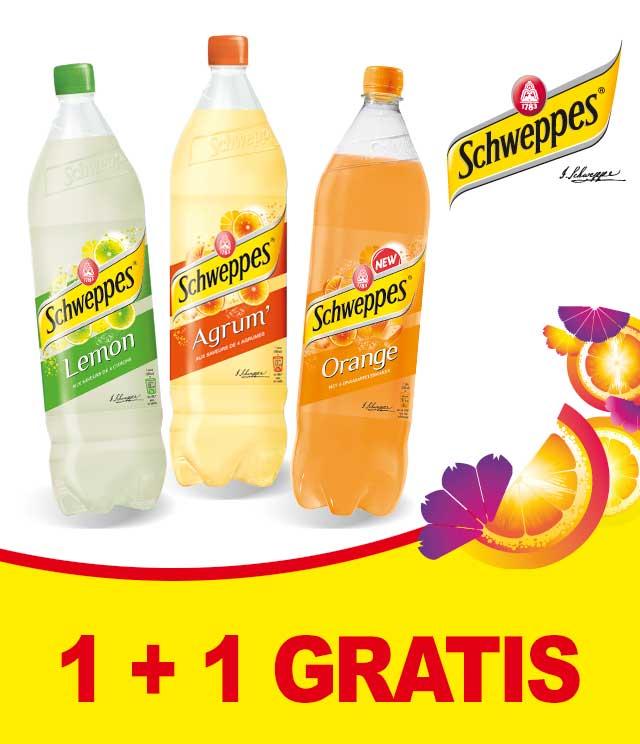 Schweppes Fruit 1 + 1 Gratis cashback op myShopi
