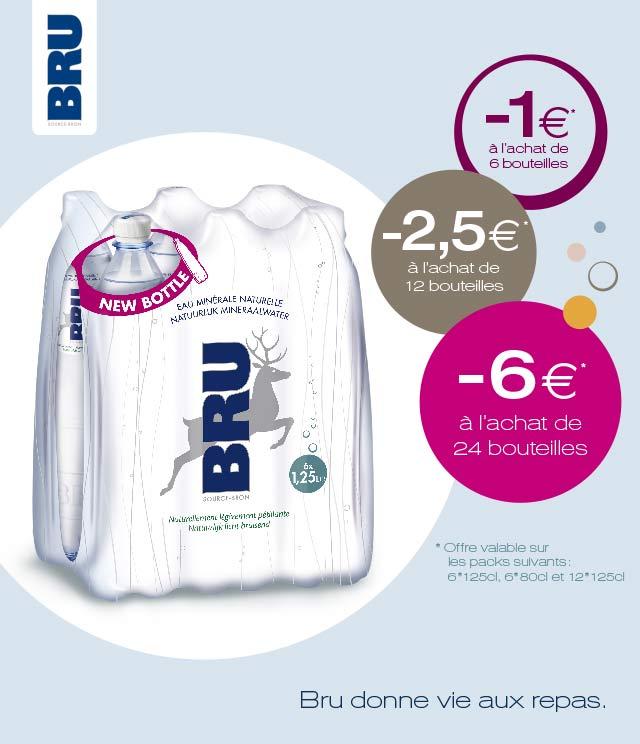Cashback Bru -1€ / -2,5€ / -6€ sur myShopi