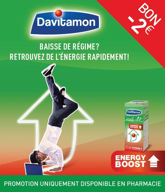 Cashback Davitamon Energy Boost €2 Remboursés sur myShopi