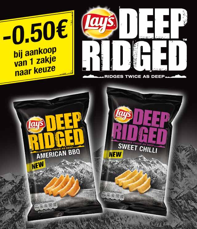 Lay's Deep Ridged 0,50€ Terugbetaald cashback op myShopi