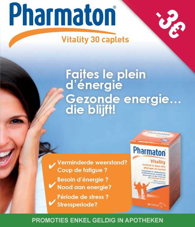 Pharmaton - Multivitaminen 3€ Terugbetaald cashback op myShopi
