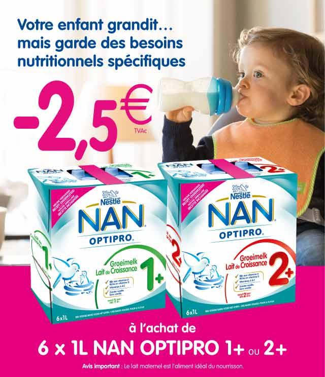 Cashback NAN OPTIPRO Lait de Croissance Liquide 2,5€ remboursés  sur myShopi
