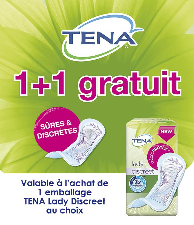Cashback TENA Lady Discreet  1+1 gratuit sur myShopi