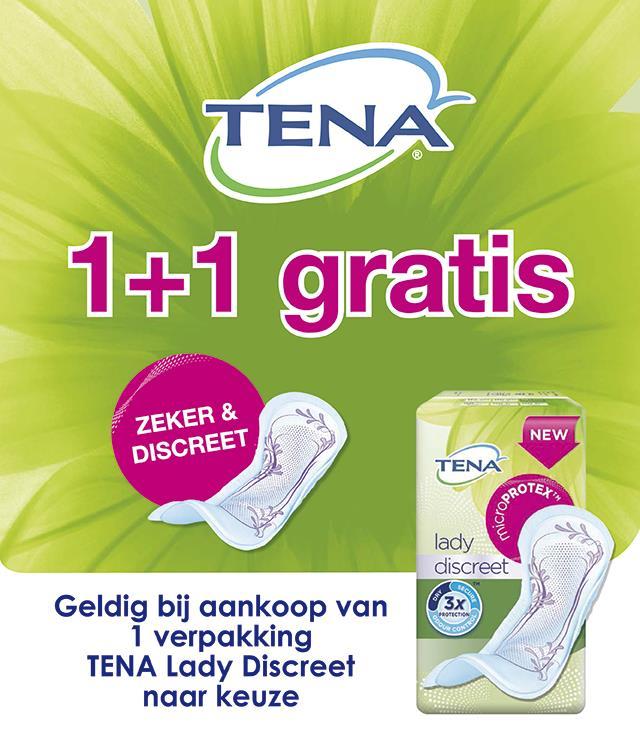 TENA Lady Discreet 1+1 gratis  cashback op myShopi