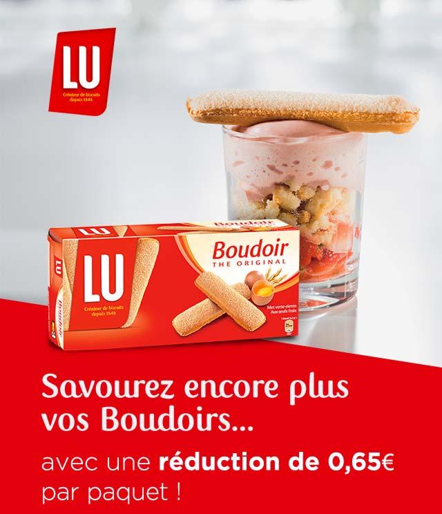 Cashback Boudoir -0,65€ par paquet sur myShopi
