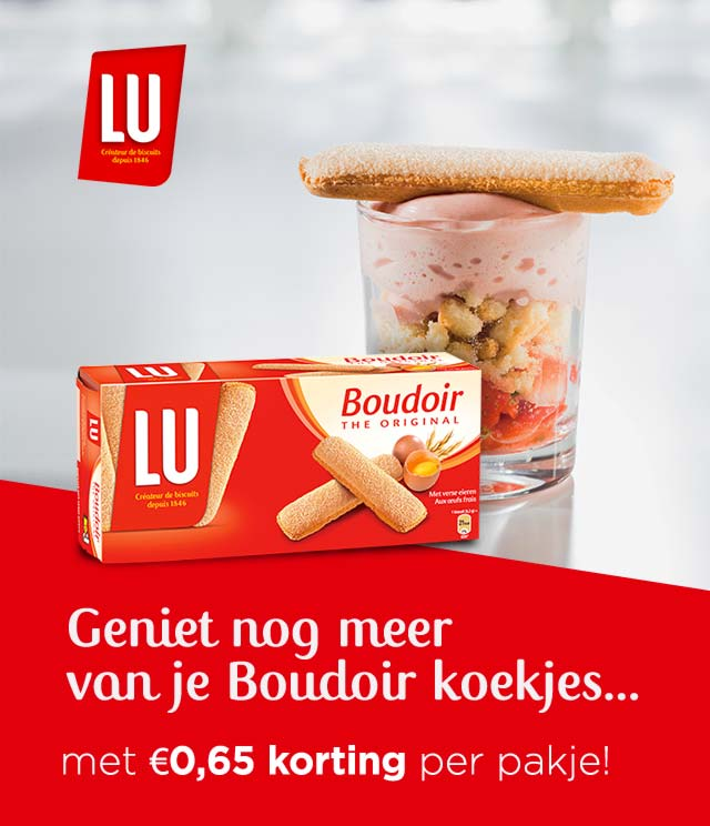 Boudoir -0,65€ per pakje cashback op myShopi