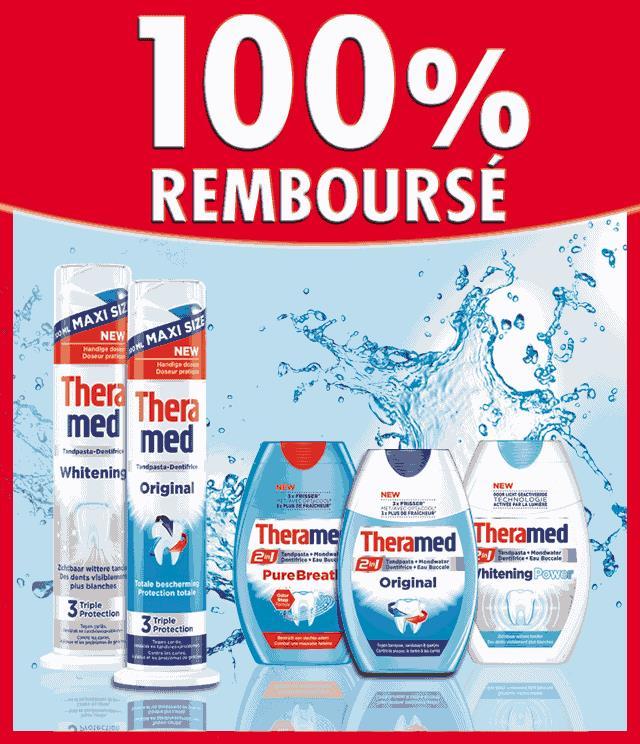 Cashback Theramed Dispenser & Theramed 2en1 100% remboursé sur myShopi