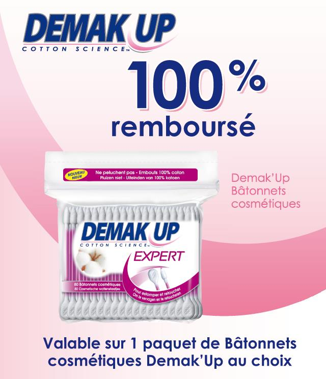 Cashback Demak'Up Cosmetic Buds 100% Remboursé sur myShopi