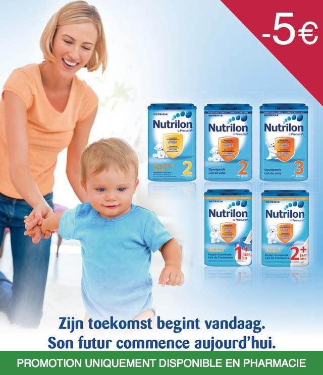 Cashback Nutrilon - Lait de croissance 5€ Remboursés sur myShopi