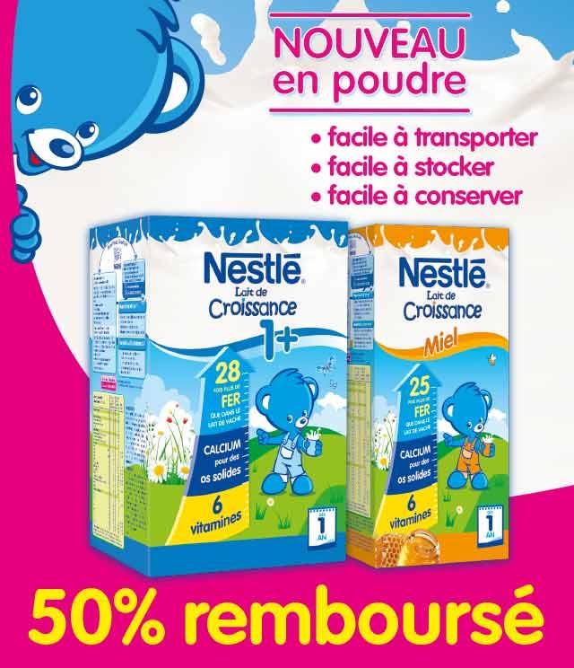 Cashback Nestlé Lait de Croissance 50% Remboursé sur myShopi