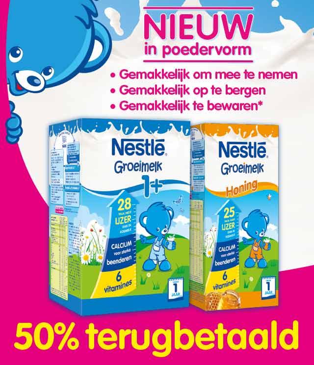 Nestlé Groeimelk 50% Terugbetaald cashback op myShopi