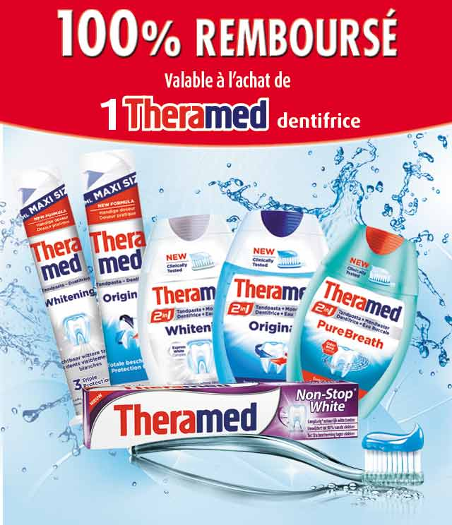 Cashback Theramed Dentifrice 100% Remboursé sur myShopi