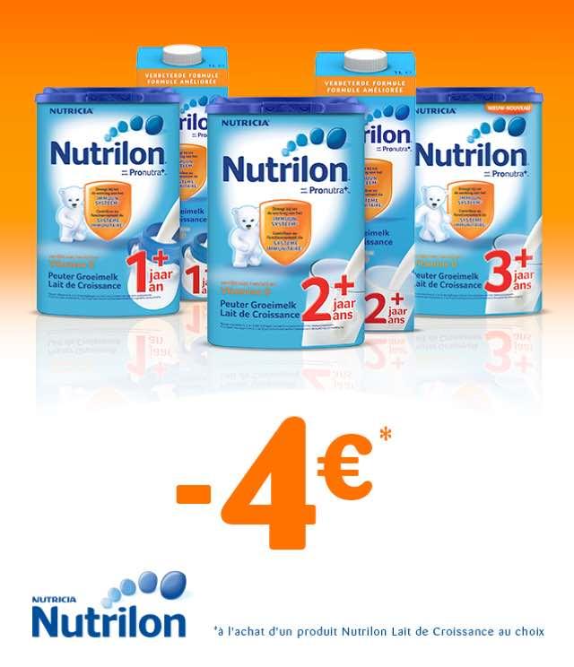 Cashback Nutrilon Lait de Croissance 4€ Remboursés sur myShopi