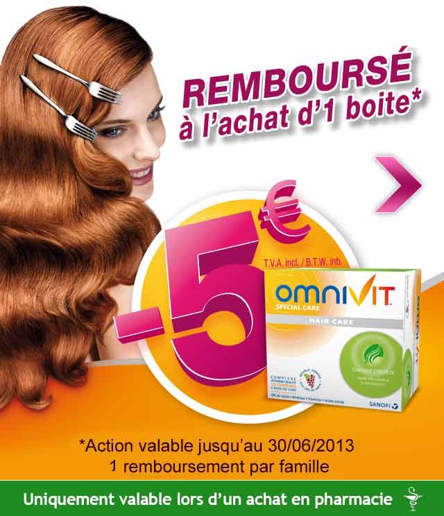 Cashback Omnivit Hair Care 5€ Remboursés sur myShopi