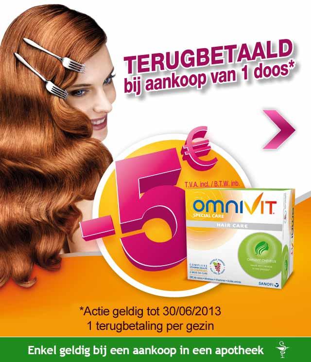 Omnivit Hair Care 5€ Terugbetaald cashback op myShopi