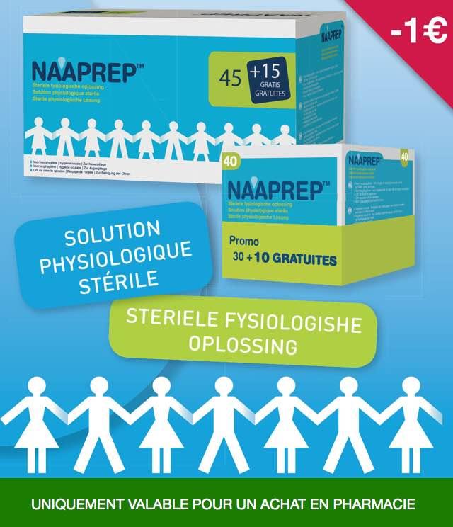 Cashback Naaprep - Solution physiologique 1€ Remboursé sur myShopi