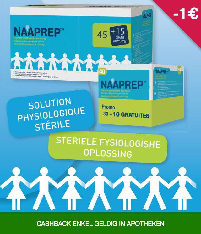 Naaprep - Fysiologishe oplossing 1€ Terugbetaald cashback op myShopi