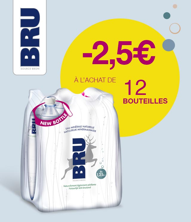 Cashback Bru 12x125 cl 2,50€ Remboursés sur myShopi