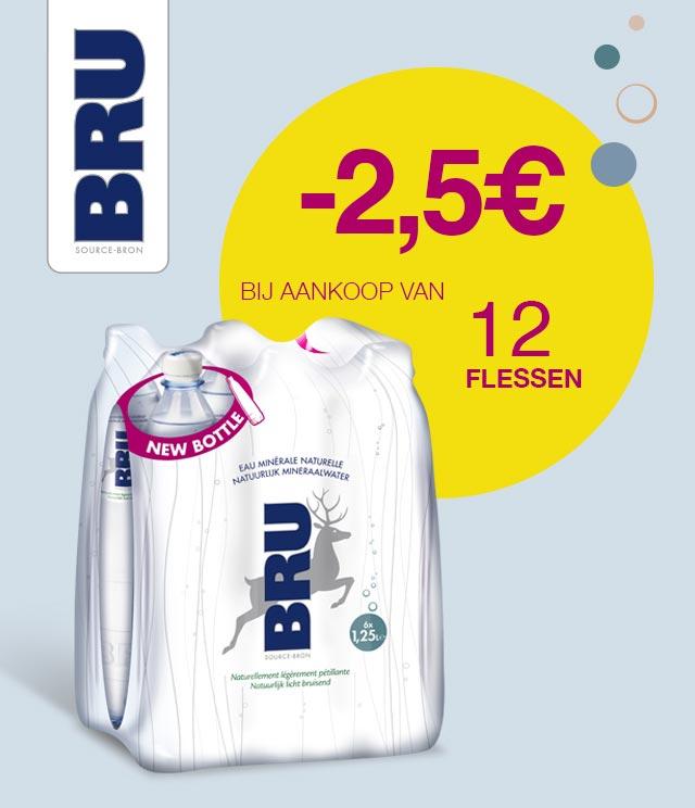 Bru 12x125 cl 2,50€ Terugbetaald cashback op myShopi