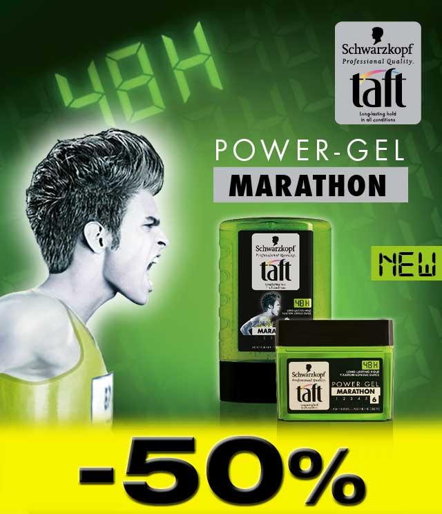 Taft Marathon Gel 50% Terugbetaald cashback op myShopi