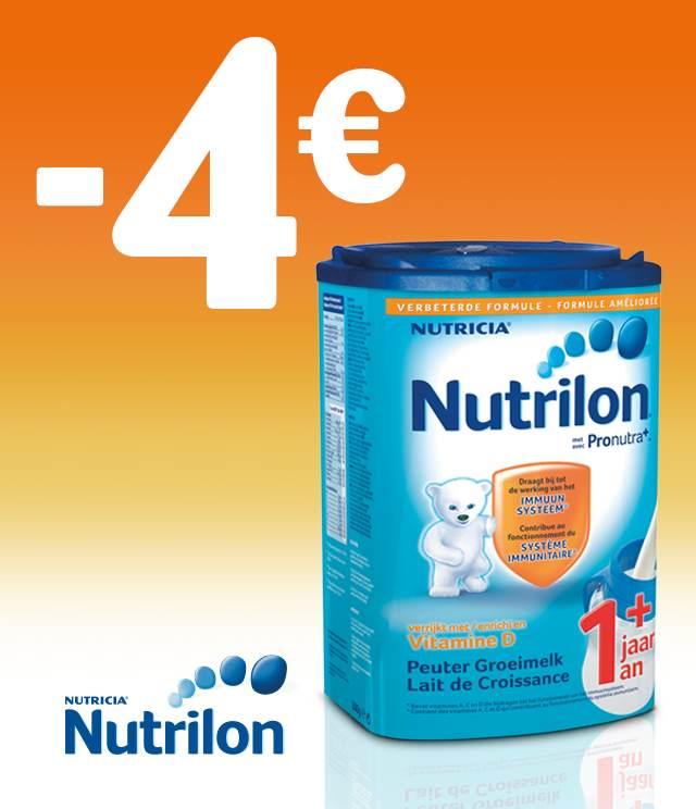 Cashback Nutrilon - Lait de croissance 1+ 4€ Remboursés sur myShopi