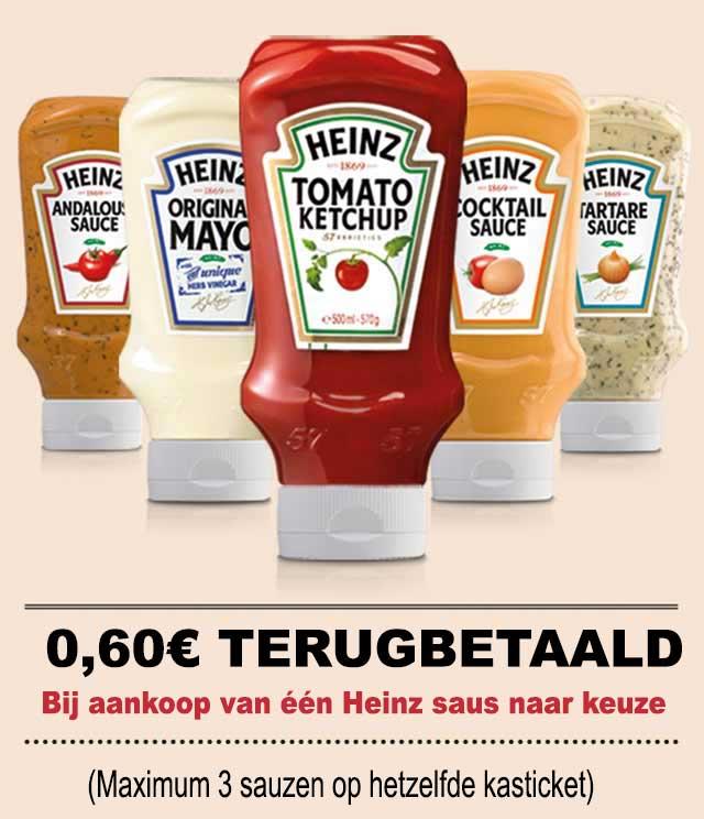 Heinz Sauzen 0,60€ Terugbetaald cashback op myShopi