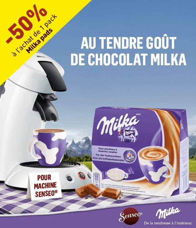 Cashback Milka pads 50% remboursé sur myShopi