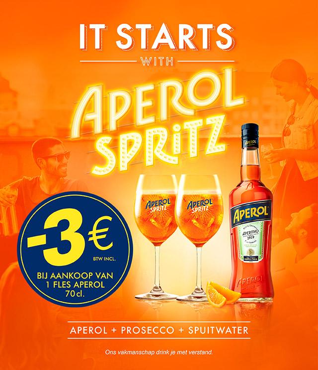 Aperol Summer Activation €3 terugbetaald  cashback op myShopi