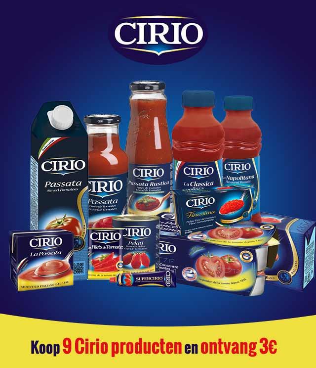 Cirio Spaaractie 3€ Terugbetaald cashback op myShopi