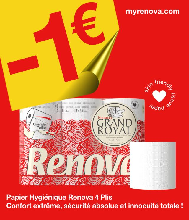 Cashback Renova Grand Royal 1€ Remboursé sur myShopi