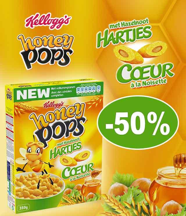 Cashback Honey Pops Coeur à la noisette (350gr) 50% Remboursé sur myShopi