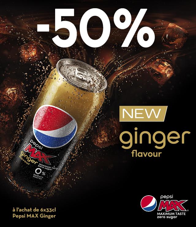 Cashback Pepsi Max Ginger 50% remboursé sur myShopi