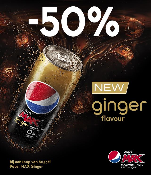 Pepsi Max Ginger 50% terugbetaald cashback op myShopi