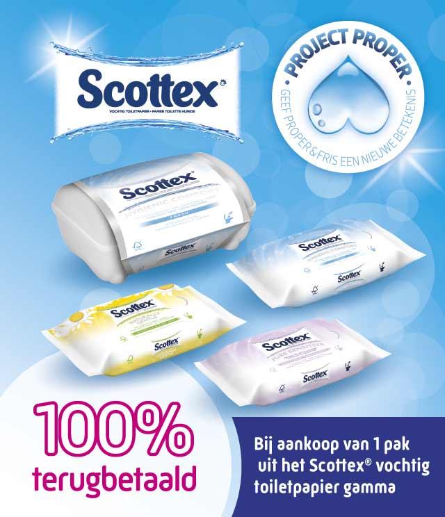 Scottex Vochtig Toiletpapier 100% Terugbetaald cashback op myShopi