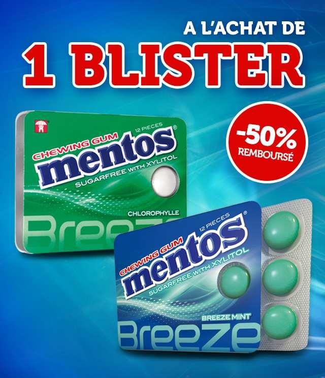 Cashback Mentos Chewing Gum 50% Remboursé sur myShopi