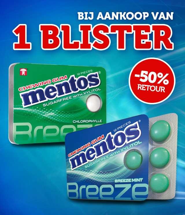Mentos Chewing Gum 50% Terugbetaald cashback op myShopi