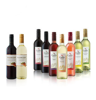 Gallo Family Vineyards en Turning Leaf 20€ Terugbetaald